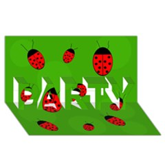 Ladybugs Party 3d Greeting Card (8x4)  by Valentinaart