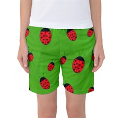 Ladybugs Women s Basketball Shorts by Valentinaart