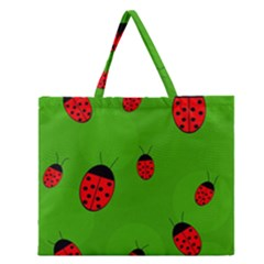 Ladybugs Zipper Large Tote Bag by Valentinaart