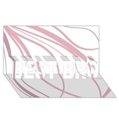Pink Elegant Lines Best Bro 3d Greeting Card (8x4)  by Valentinaart