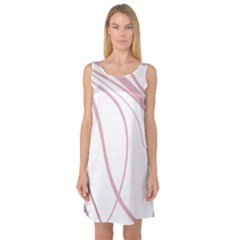 Pink Elegant Lines Sleeveless Satin Nightdress by Valentinaart