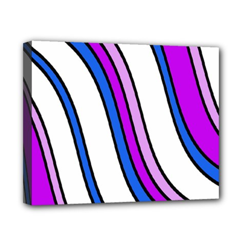 Purple Lines Canvas 10  X 8  by Valentinaart