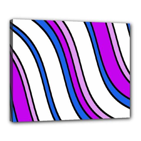 Purple Lines Canvas 20  X 16  by Valentinaart