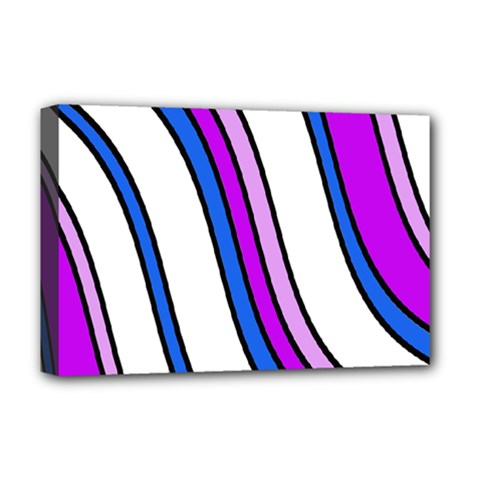 Purple Lines Deluxe Canvas 18  X 12   by Valentinaart