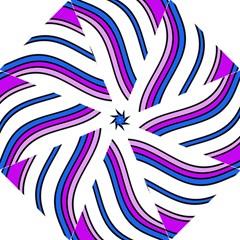 Purple Lines Golf Umbrellas by Valentinaart