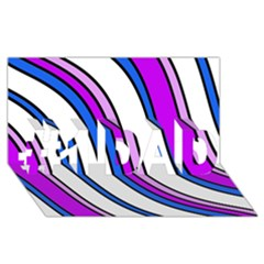Purple Lines #1 Dad 3d Greeting Card (8x4)  by Valentinaart