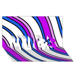 Purple Lines Hugs 3d Greeting Card (8x4)  by Valentinaart