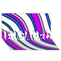 Purple Lines Engaged 3d Greeting Card (8x4)  by Valentinaart