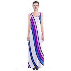 Purple Lines Sleeveless Maxi Dress by Valentinaart