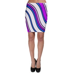 Purple Lines Bodycon Skirt by Valentinaart