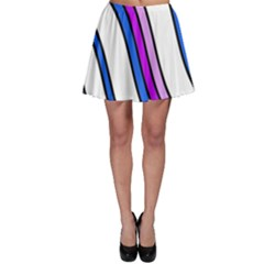 Purple Lines Skater Skirt by Valentinaart