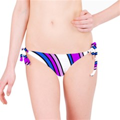 Purple Lines Bikini Bottom by Valentinaart