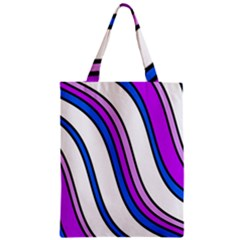 Purple Lines Classic Tote Bag by Valentinaart