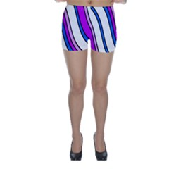 Purple Lines Skinny Shorts by Valentinaart