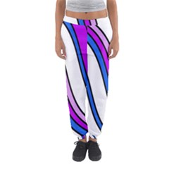 Purple Lines Women s Jogger Sweatpants by Valentinaart