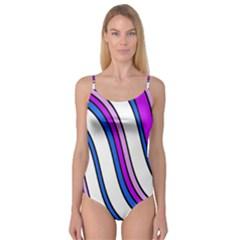 Purple Lines Camisole Leotard  by Valentinaart