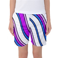 Purple Lines Women s Basketball Shorts by Valentinaart