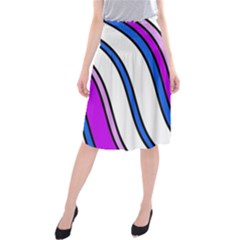 Purple Lines Midi Beach Skirt by Valentinaart