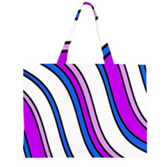 Purple Lines Zipper Large Tote Bag by Valentinaart