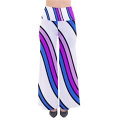 Purple Lines Pants by Valentinaart