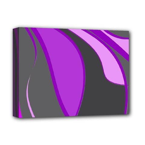 Purple Elegant Lines Deluxe Canvas 16  X 12   by Valentinaart