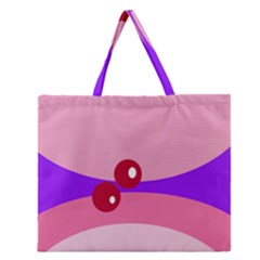 Decorative Abstraction Zipper Large Tote Bag by Valentinaart