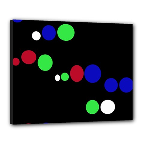 Colorful Dots Canvas 20  x 16  by Valentinaart