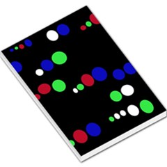 Colorful Dots Large Memo Pads by Valentinaart