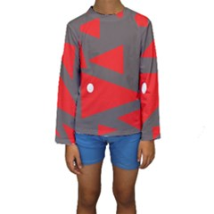 Decorative Abstraction Kid s Long Sleeve Swimwear by Valentinaart