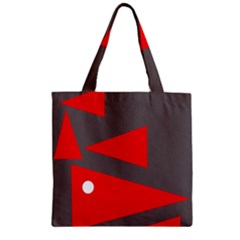 Decorative Abstraction Zipper Grocery Tote Bag by Valentinaart