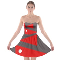 Decorative Abstraction Strapless Dresses by Valentinaart