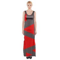 Decorative Abstraction Maxi Thigh Split Dress by Valentinaart