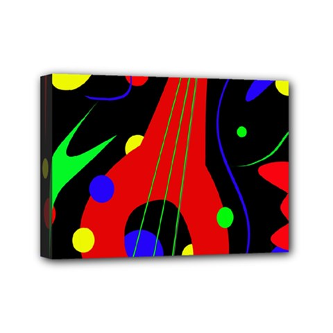 Abstract Guitar  Mini Canvas 7  X 5  by Valentinaart