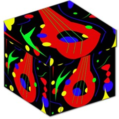 Abstract Guitar  Storage Stool 12   by Valentinaart