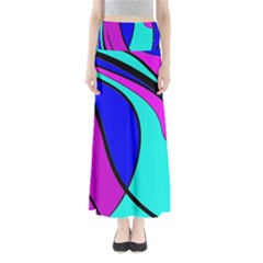 Purple And Blue Maxi Skirts by Valentinaart