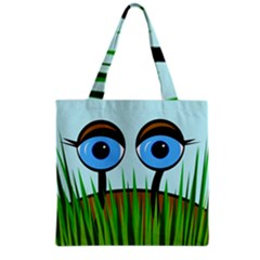 Snail Grocery Tote Bag by Valentinaart