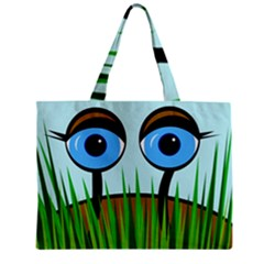 Snail Zipper Mini Tote Bag by Valentinaart