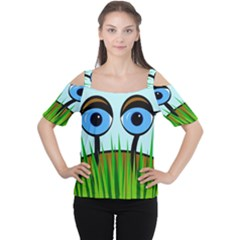 Snail Women s Cutout Shoulder Tee by Valentinaart
