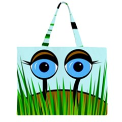 Snail Zipper Large Tote Bag by Valentinaart