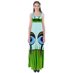 Snail Empire Waist Maxi Dress by Valentinaart