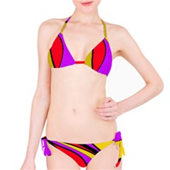 Colorful Lines Bikini Set by Valentinaart