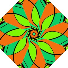 Green And Orange Folding Umbrellas by Valentinaart