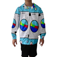 Washing Machine  Hooded Wind Breaker (kids) by Valentinaart