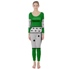 Dice  Long Sleeve Catsuit by Valentinaart