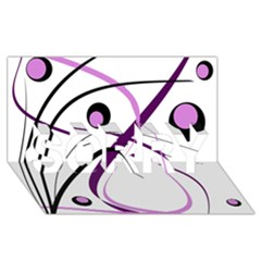 Pink Elegant Design Sorry 3d Greeting Card (8x4)  by Valentinaart