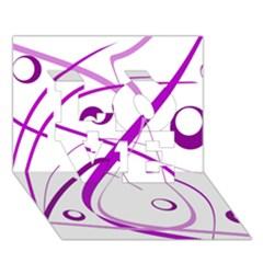 Purple Elegant Design Love 3d Greeting Card (7x5)  by Valentinaart