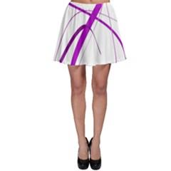 Purple Elegant Design Skater Skirt by Valentinaart