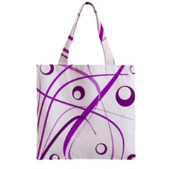 Purple Elegant Design Zipper Grocery Tote Bag by Valentinaart