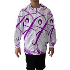 Purple Elegant Design Hooded Wind Breaker (kids) by Valentinaart