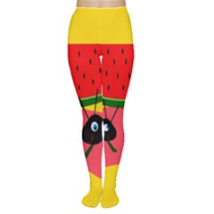 Ants And Watermelon  Women s Tights by Valentinaart